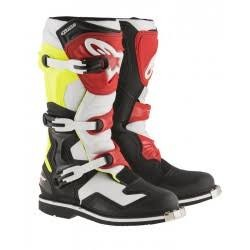 TECH 1 Black White Yellow Fluo Red