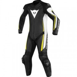 Assen 1 PC Perf. Suit Black/White/Yellow Fluo