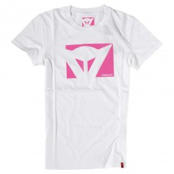 Color New Lady T-Shirt White Fuchsia