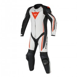 Assen 1 PC Perf Suit White/Black/Red Fluo