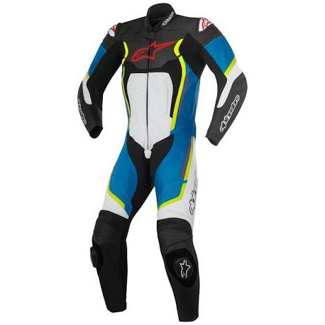 Motegi V2 1PC Suit Black/White/Blue/Yellow