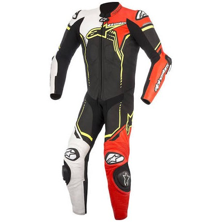 GP PLUS V2 Suit 1Pc Black/White/Red Fluo