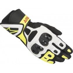 SP AIR Gloves Black White Yellow Fluo