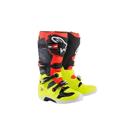 Tech 7 Yellow Red Fluo Gray Black