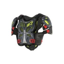 A-10 Full Chest Protector Antracite Black Red