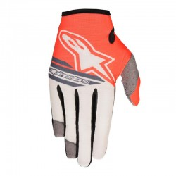 Radar Flight Gloves Sand Gray Red