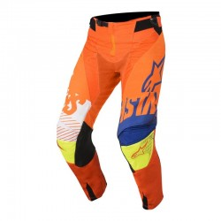 Youth Racer Screamer Pants Orange/Blue/White/Yellow