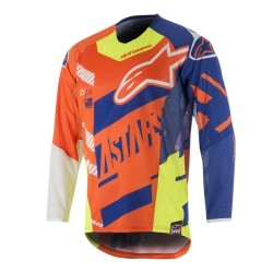 Youth Racer Screamer Jersey Orange/Blue/White/Yellow