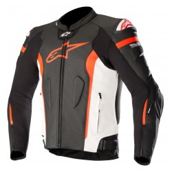 Missile Leather Jacket Tech Air Black White Red