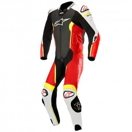 Missile Leather Suit Tech-air Black White Red Yellow