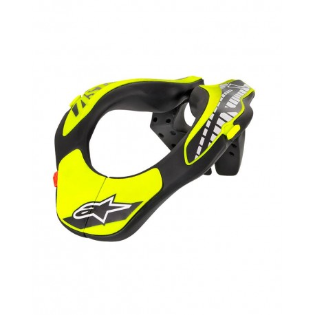 Youth Neck Support Black Yellow Fluo