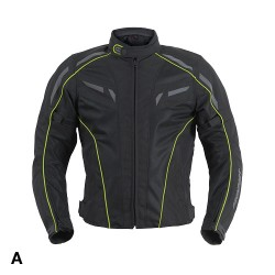 Spring Jacket Air Lady Black Yellow Fluo