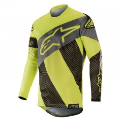 Racer Tech Atomic Jersey Black Yellow Fluo Gray
