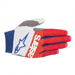 Racefend Gloves White Red Blue