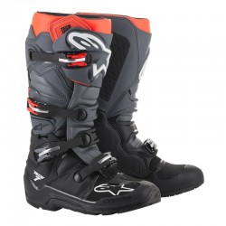 Tech 7 Enduro Black/Grey/Red Fluo