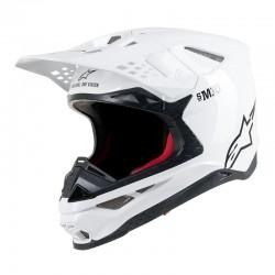 Supertech S-M 10 Solid Helmet White Carbon