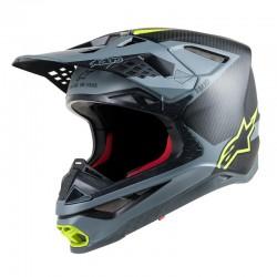 Supertech S-M Meta Helmet Black Gray Yellow Carbon