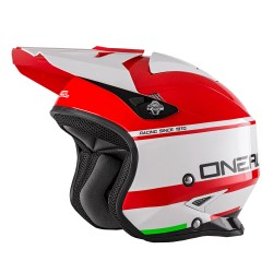Slat Trial Helmet Crimson White Orange