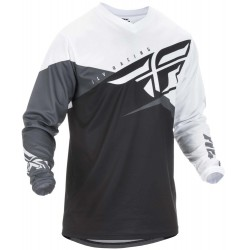F-16 Jersey Black White Gray