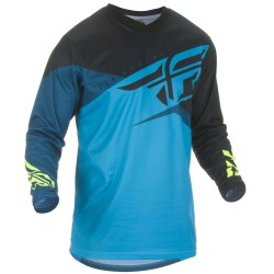 F-16 Jersey Blue Black Fluo