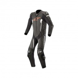 Missile Leather Suit Leather Black Fluo Red White - Tech Air