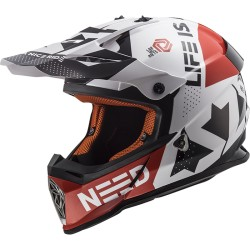 MX437 Fast Block White Red