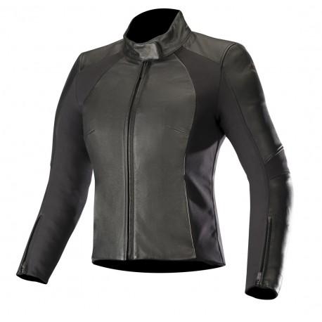 Vika V2 Stella Leather Jacket Black