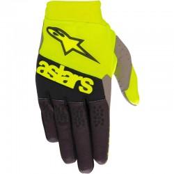 Racefend Gloves Yellow Fl Black