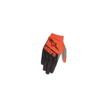 Racefend Gloves Orange Fl Black
