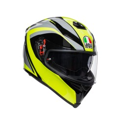 K5 S Typhoon Black/Gray/ Yellow Fl