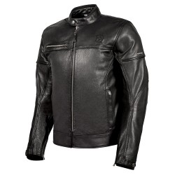 Jacket Leather Black Cafe