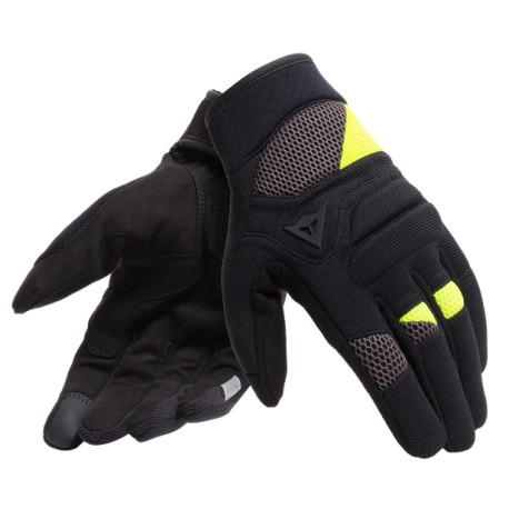 Fogal Unisex Gloves Black Fluo Yellow