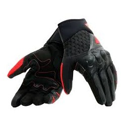 X-Moto Gloves Black Fluo Red