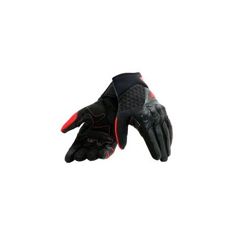 X-Moto Gloves Black Fluo Red