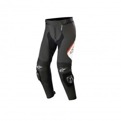 Missile V2 Leather Pants Black Blk Wht Red Fl