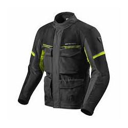 Outback 3 Jacket black Neon Yellow