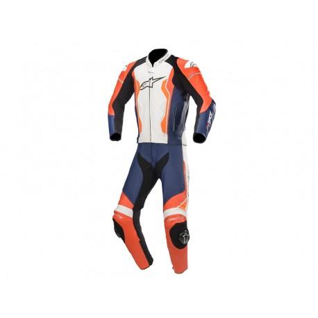 Gp Force Leather Suit Red Fl Black White Orange