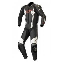 Gp Force Leather Suit 1 Pc Black-White