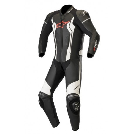 Gp Force Leather Suit 1 Pc Black-White
