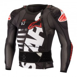 Sequence Protection Jacket Black White Red