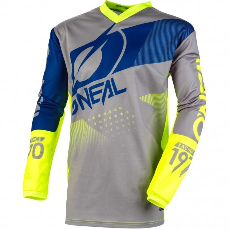 Element Jersey Factor Gray-Blue-Neon Yellow
