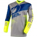 Element Youth Jersey Factor Gray-Blue-Neon Yellow