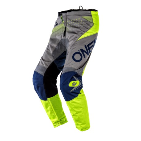 Element Pants Factor Gray-Blue-Neon Yellow