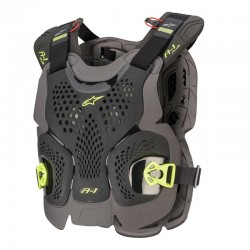 A-1 Plus Chest Protector Black Antracite Yellow Fl