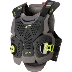 A-4 Max Chest Protector Black Antracite Yellow FL