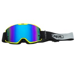 B-20 Google Plain Neon Yellow-Black Radium Blue