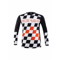 Mx Start e Finish Jersey Nero-Arancio