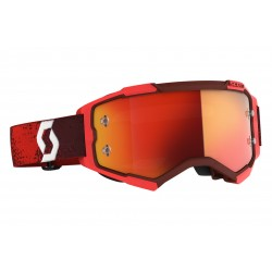 Scott Fury Red Black Lens Orange Crome
