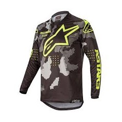 Racer Tactical Jersey Black-Gray Camu-Yellow