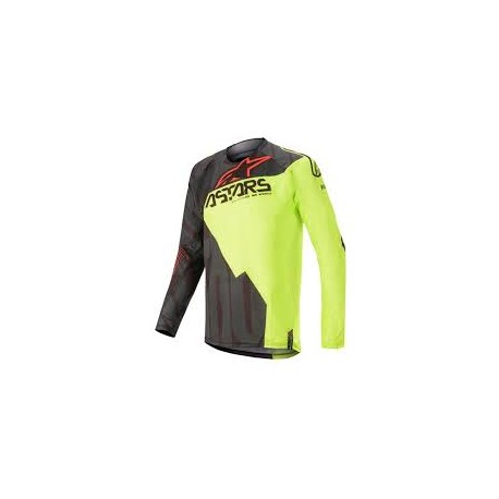 Techstar Factory Jersey Black-Yellow-Red